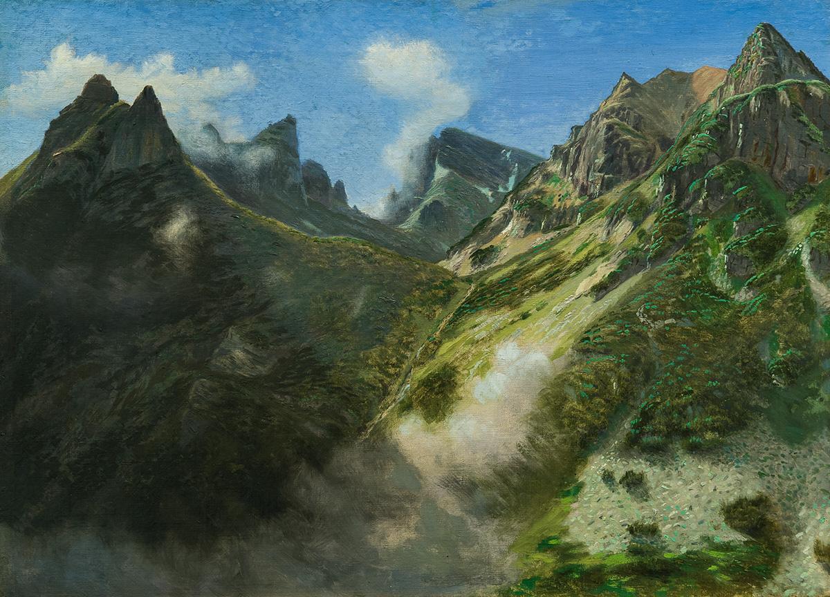 Пейзаж от Рила, 1914 – 1918 маслени бои, платно, 56 х 78 см