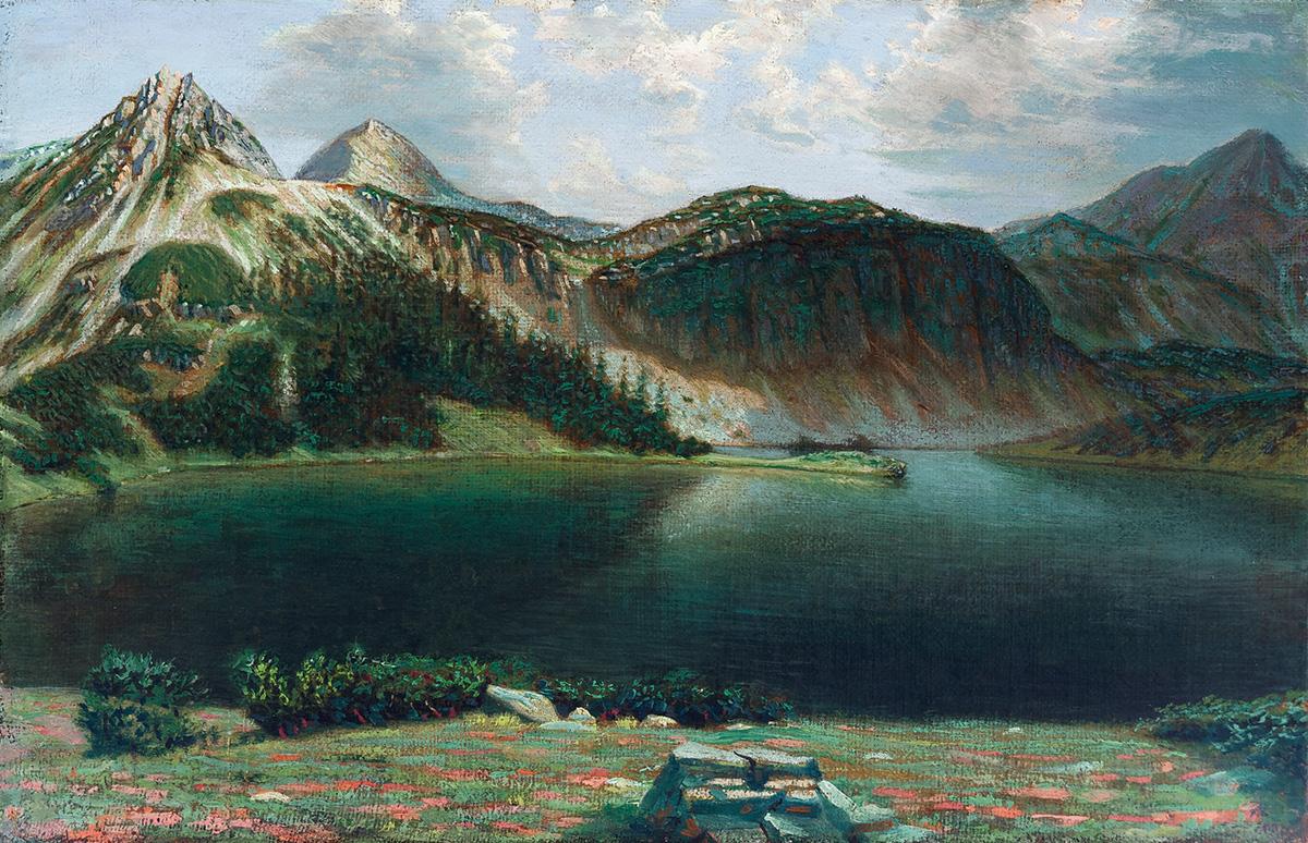 Рилски езеро, 1914 – 1918 маслени бои, платно, 50 х 76 см